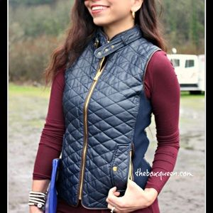 🎁NWT -Fate quilted faux leather vest🎁